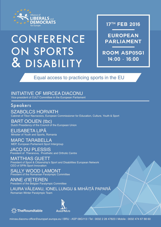 Sport and Disability - 17.02.2016 - European Parliament